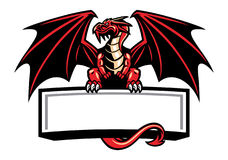 Dragon mascot spread the wings Stock Photos
