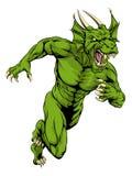 Dragon mascot sprinting Stock Image