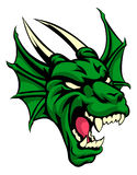 Dragon Mean Animal Mascot. An illustration of a dragon animal mean sports mascot head Stock Images