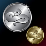 Dragon medallion Royalty Free Stock Images