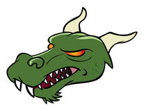 Dragon Medieval. Cartoon vector illustration of a Medieval Dragon Stock Photography