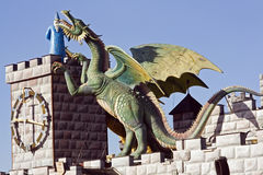 Dragon and Merlin royalty free stock photos