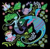 Dragon and mermaid Stock Photos