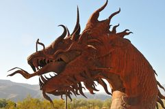 Dragon Metal Sculpture at Anza Borrego Desert California. Dragon metal sculptures in the Anza Borrego Desert. Sculptures are public art displayed over many acres royalty free stock photography