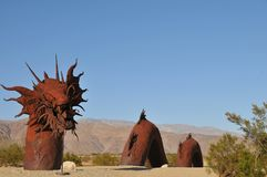 Dragon Metal Sculpture at Anza Borrego Desert California. Dragon metal sculptures in the Anza Borrego Desert. Sculptures are public art displayed over many acres stock photos