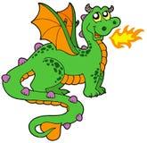 Dragon mignon avec le long arrière Image stock