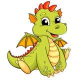 Dragon mignon de bande dessinée Images stock