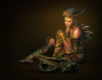 Dragon Mom, 3d CG Stock Foto's