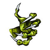 Dragon or monster paw Stock Images