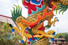 Dragon or monster paw. Golden dragon claw dragon foot statue stock photography