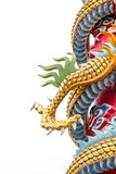 Dragon or monster paw. Golden dragon claw dragon foot statue on white background royalty free stock images