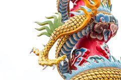 Dragon or monster paw. Golden dragon claw dragon foot statue on white background stock photography