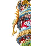 Dragon or monster paw. Golden dragon claw dragon foot statue on white background stock image