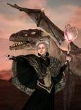Dragon Mother Protector Queen Fantasy ilustración del vector