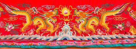 Dragon motif embroider Royalty Free Stock Photos
