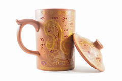 A Dragon mug isolated picture. With white background royalty free stock image