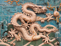 Dragon Mural 1. One of 8 dragons on an ancient mural in China Royalty Free Stock Photos