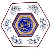 Dragon Mural Royalty Free Stock Image