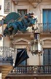 Dragon on my balcony Royalty Free Stock Photo
