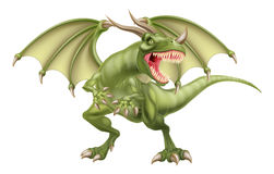 Dragon. A mythological fantasy fairytale dragon Stock Photography