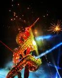 Dragon Nakhonsawan no chinês dia e noite Fotos de Stock