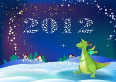 Dragon new 2012 year symbol Stock Photos