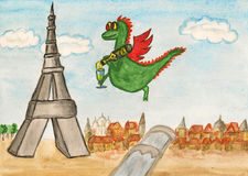 Dragon New Year comes to France Royalty Free Stock Image