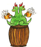 Dragon New Year comes to Germany royalty free stock photos