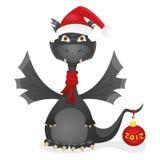 Dragon noir Images stock