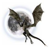 Dragon noir illustration de vecteur