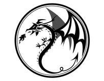 Dragon noir photos libres de droits