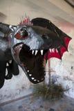 Dragon noir Image libre de droits