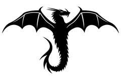 Dragon noir Photographie stock