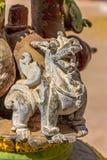 Dragon on an old praying bell royalty free stock image