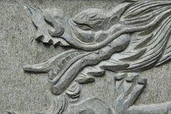 Dragon On Marble Royalty Free Stock Photos