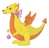 Dragon with orange belly Royalty Free Stock Photo
