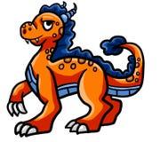 Dragon orange fier illustration libre de droits