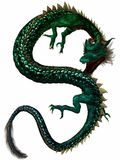Dragon oriental Images libres de droits