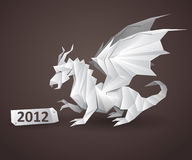 Dragon origami. Detailed vector illustration royalty free illustration