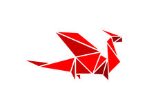 Dragon origami Royalty Free Stock Photography