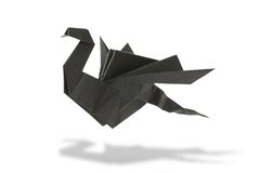 Dragon origami. Isolated on white background Stock Image