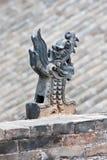 Dragon ornemental sur un bâtiment antique chinois, Xian, Chine Photo stock