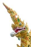 Dragon ou roi thaï de statue de Naga Photo libre de droits