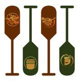 Dragon Paddle sign - 4 design Stock Photos
