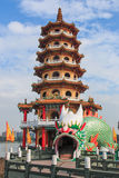 Dragon Pagoda at Lotus pond, Kaohsiung, Taiwan Stock Photography