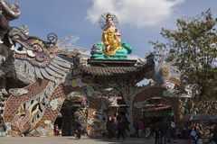 Dragon pagoda in Vietnam Stock Photo