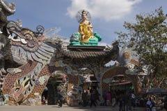 Dragon pagoda in Vietnam Stock Photo