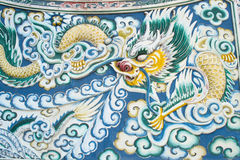 Dragon painting in Chinese temple Royalty Free Stock Photos