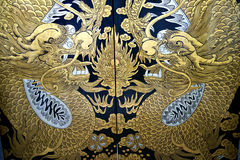Dragon painting on an entrance Royalty Free Stock Photography