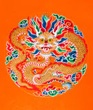 Dragon painting at Ramtek Monastry Stock Photography
